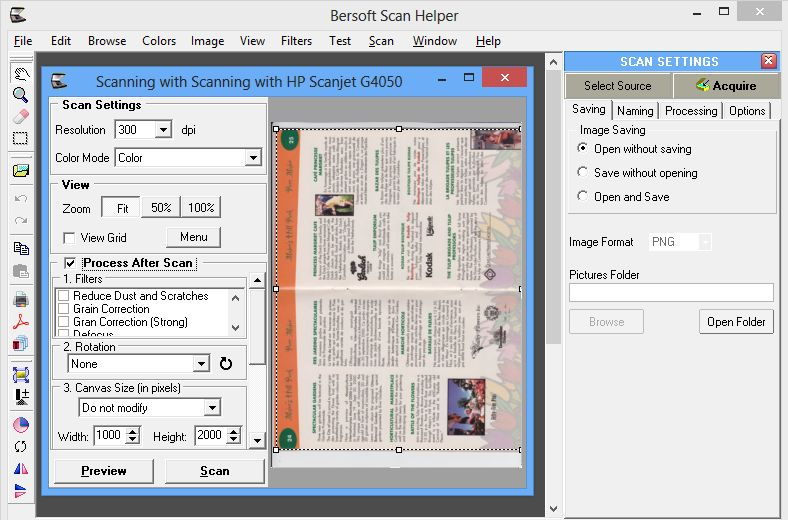 how to scan whole document as pdf file